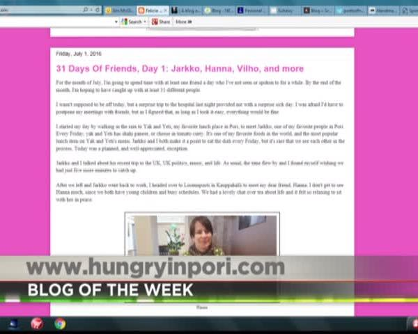 PA Live- BLOG OF THE WEEK- HUNGRY IN PORI_11398675-159532