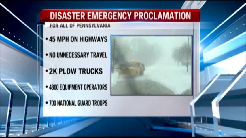 PA Travel Restrictions in place all day
