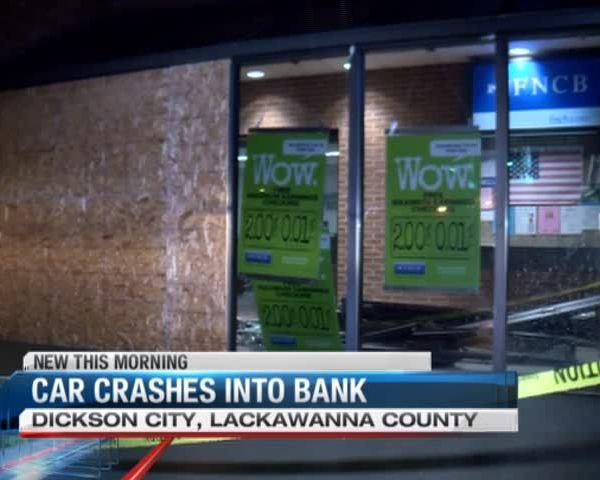 Car slams into bank