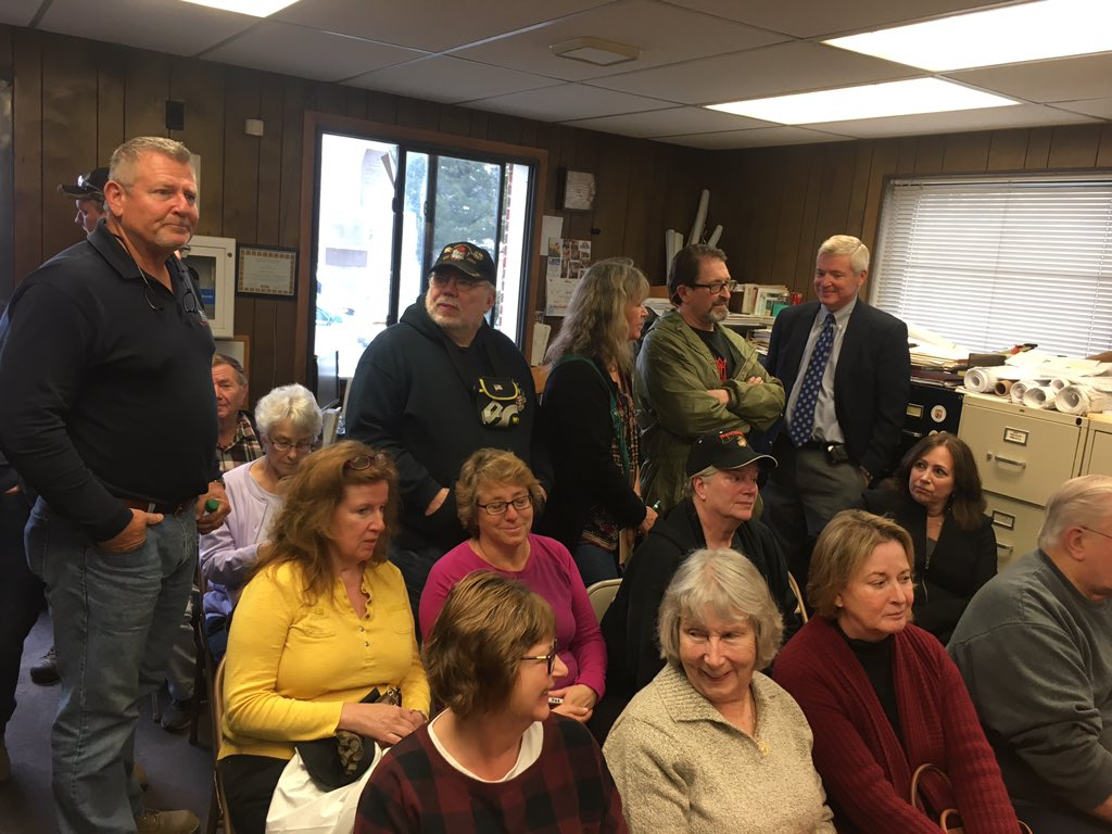 Standing room only at Hamilton Township meeting Tuesday.