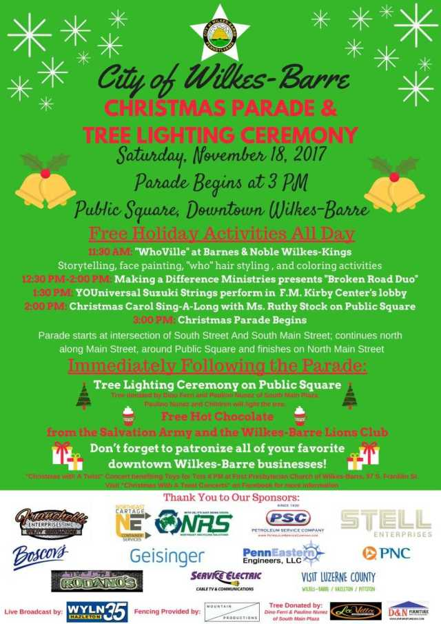 Sponsors In The Wilkes Barre Christmas Parade 2020 Wilkes Barre City's 2017 Christmas Parade & Tree Lighting Ceremony