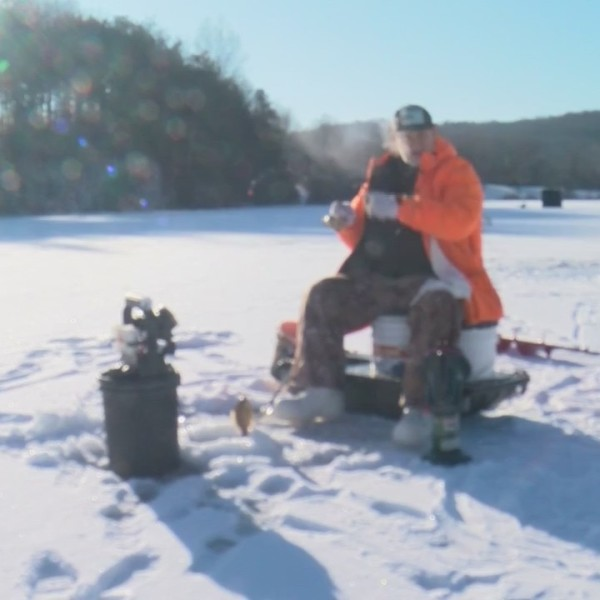 January Ice Fishing Noon