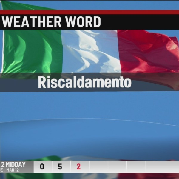 Italian Weather Word Wednesday