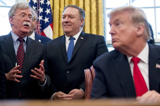 Donald Trump, Mike Pompeo, John Bolton