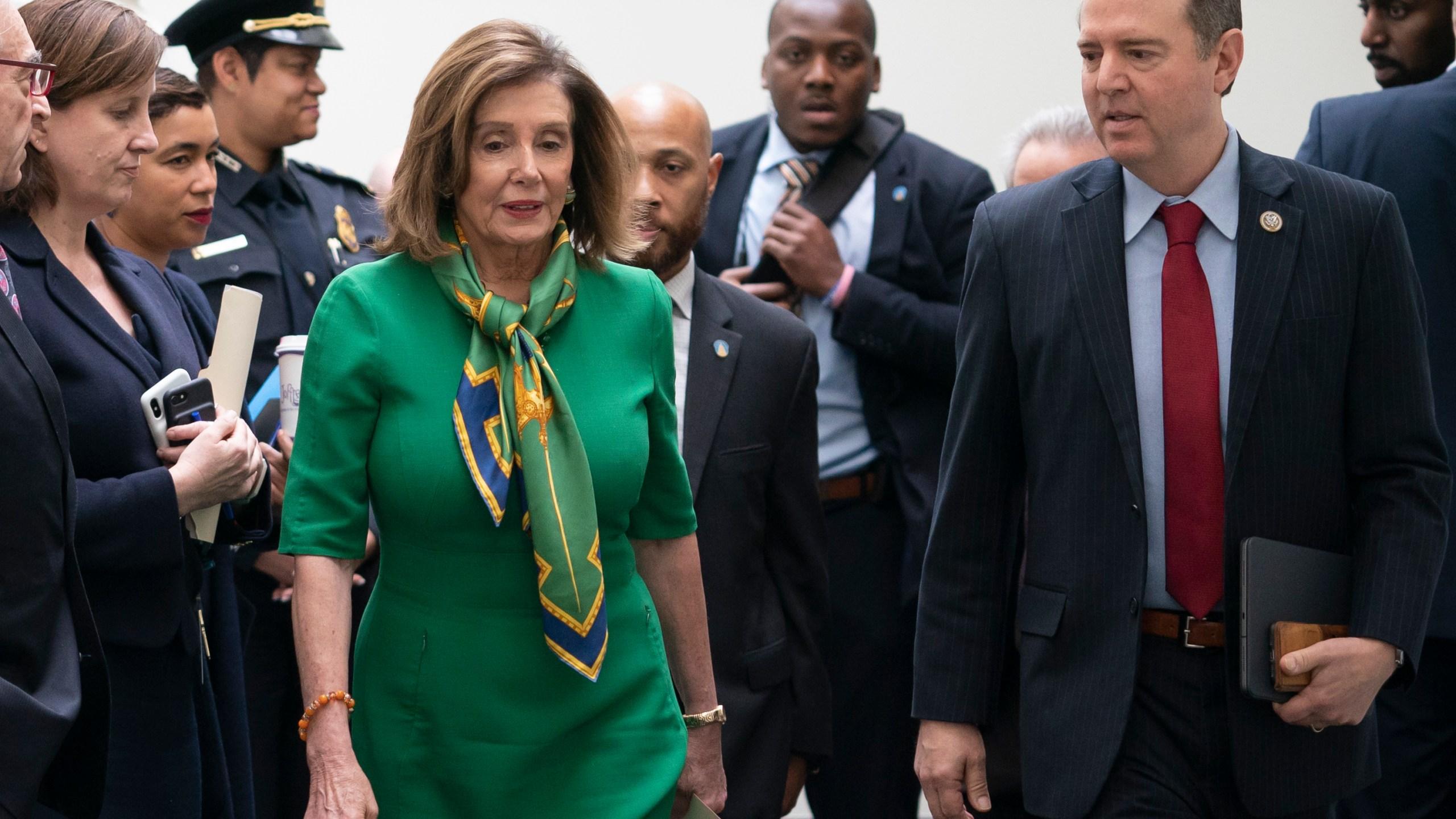 Nancy Pelosi, Adam Schiff