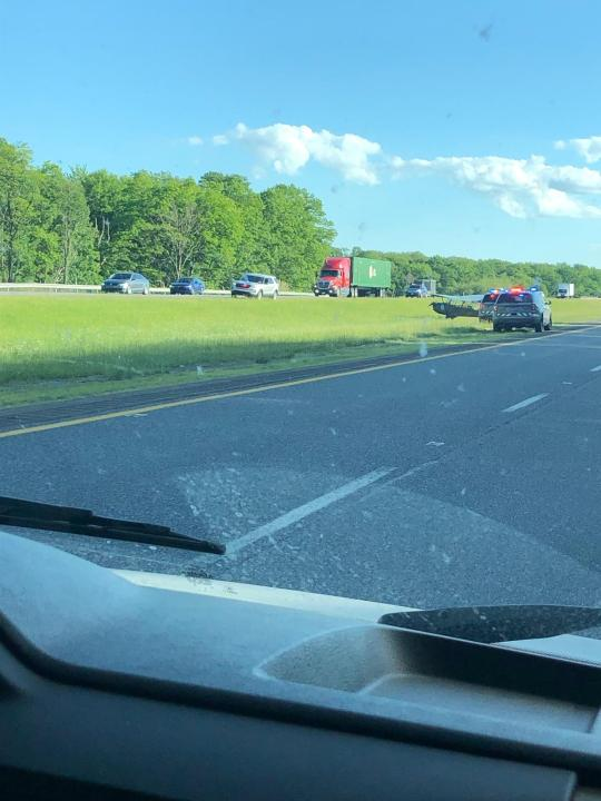 Small aircraft makes emergency landing on Interstate 81