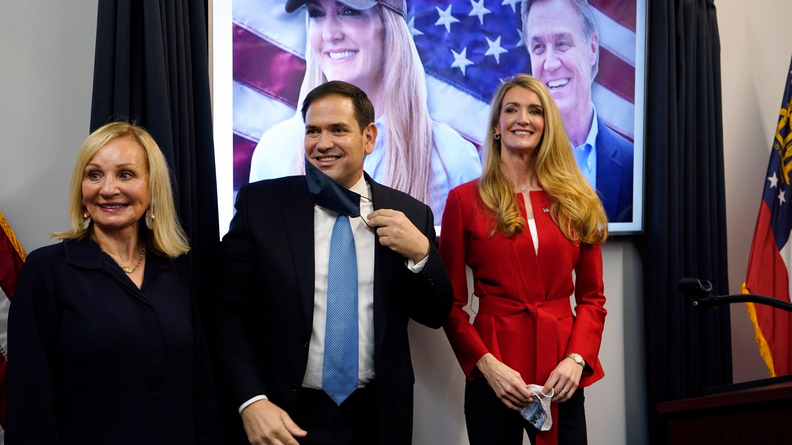 Kelly Loeffler, Marco Rubio, Bonnie Perdue