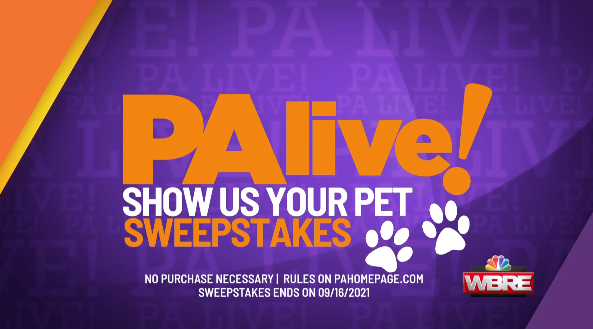 PA live! Show US Your Pet Sweepstakes
